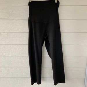 BeMaternity Black Cropped Leggings Crossover Panel
